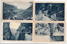Lot 4 cartes postales anciennes DRÔME route des grands goulets 6
