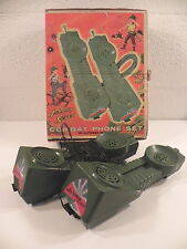 JOHNNY SEVEN COMBAT PHONE SET VINTAGE JOUET ANCIEN militaria transmission
