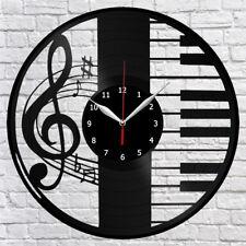 Piano Vinyl Record Wall Clock Original gift 12'' 30cm A110