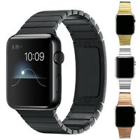 Link Bracelet Strap Stainless Steel Band For iWatch Apple Watch Series 4 3 2 1