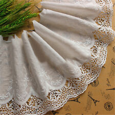 Broderie Anglaise Cotton Eyelet Lace Trim Embroidered Wedding Cloth Sewing Craft