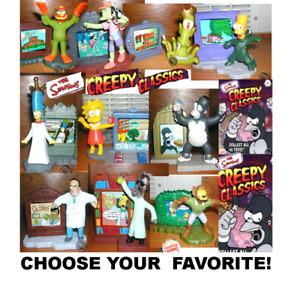 Burger King 2002 The Simpsons Creepy Classics Figures-Pick Your Favorite!