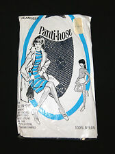 019b72f32bc87 Vintage 60's Girl's Navy Blue Fishnet Tights Stockings Panti-Hose - Size 12- 14