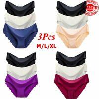 3PCS /Set Women's Seamless Ultra Thin Briefs Panties Hipster Underwear Lingerie