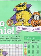 MARGARET SHERRY HELLO ARCHIE ! TRICK OR TREAT ! & MESSY SPAGHEGREEN CHART ONLY