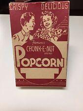 Antique Vintage Crispy Delicious Famous Chunk-E-Nut Brand Popcorn Box