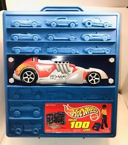 Hot Wheels Vintage 1997 Rolling Case - Holds 100 Cars - Style # 20375