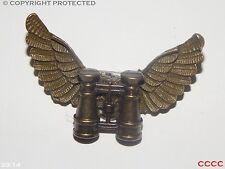Steampunk brooch badge owl wings binoculars explorer eyeglass Harry Potter LARP