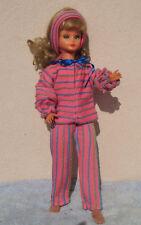 Cathie de Bella ensemble détente en jerse rayè  et poupée  Dolly, Furga de 50cm