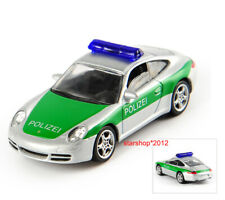 Diecast 1/64 Norev Porsche 911 Police Car Green Model Vehicle Collection Toy