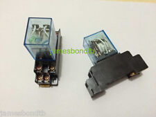 10set 24V DC Coil Power Relay DPDT LY2NJ HH62P-L JQX-13F 10A With Socket Base