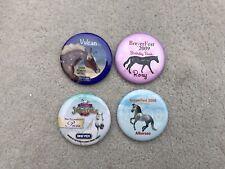 Lot 4 Breyer BreyerFest Horse Buttons Alborozo Vulcan Pecos Roxy