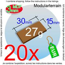 20x 3mm MDF Base 15x30mm 30x15mm 15mm 30mm Cavalry Bike War Hammer 40k Laser Cut