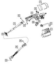 Genuine MOPAR Steering Column Shroud 1AJ27DX9AB