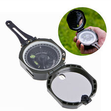 High Precision Magnetic Pocket Transit Geological Compass /w 0-360 Degree Scale