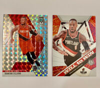 Damien Lillard Lot Of 2 Panini 2020 Mosaic #5 Refractor #19 Will To Win Silver☄️