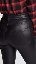 Diesel Black Gold Leather Leggings Uk 12 Skinny Trousers Black Rrp £950
