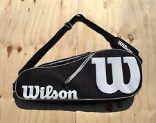 Wilson Tennis Racquet Equipment Sport Bag w/ shoulder strap, holds 3 racquets