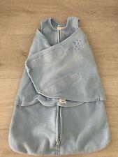 Halo Blue Fleece Sleepsack Sleep Snuggler Wearable Blanket Age Newborn (b2)