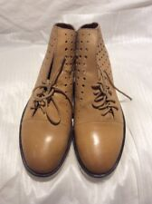 Silent D Leather Boot Shoe Goal Tan New Size 38 #67 RRP $179.95