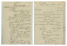 ANTIK Alte Handschrift Urkunde Verhandlungsurkunde Sömmerda 1848