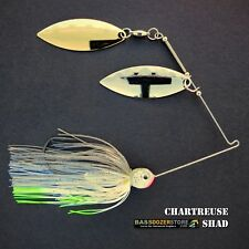 Bassdozer spinnerbaits 3/8 oz H. CHARTREUSE SHAD spinnerbait spinner baits