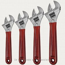 "KLEIN D507-6, 8, 10, 12"" Adjustable Wrench eXtra Capacity w/Dipped Handles 4PC"