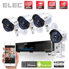 ELEC 4CH AHD DVR 720P CCTV IR Out/Indoor Surveillance Security Camera System Kit