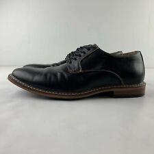 Dexter Comfort Memory Foam Men US 8 Black Vegan Leather Oxford Dress Shoes