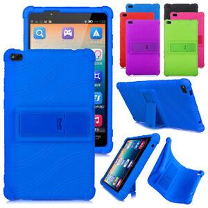 Silicon Kickstand Kids Case for Lenovo Tab E8 TB-8304F Anti-fall Soft Back Cover