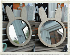 Children's bunny rabbit mirror by Transomnia