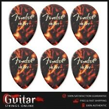 6 X Fender Heavy 354 Medium Teardrop Shape Classic Celluloid Picks