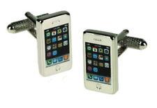 Iphone Smartphone Mobile Cufflinks - Gadget Metallic gift box CK649 Onyx Art