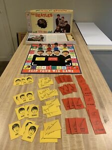 The Beatles Flip Your Wig Game w/ Box - Milton Bradley - Copyright 1964
