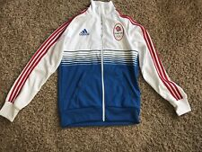Great Britain Olympic Team Adidas Long Sleeve Jacket Futbol Soccer Men's NEW