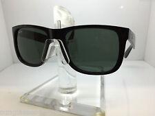 RAYBAN Sunglasses RB 4165 601/71 54MM JUSTIN GLOSSY BLACK/GREEN LENS