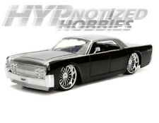 JADA 1:24 N/B BIGTIME KUSTOMS 1963 LINCOLN CONTINENTAL DIE-CAST BLACK 99555