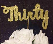 Gold 30 thirty glitter cake topper birthday 30th party celebration decoration