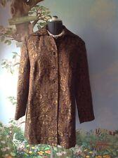 Ideology Women's Long Sleeve Brown Suit Jacket Blazer Coat Size 1X