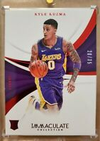 KYLE KUZMA 17-18 IMMACULATE COLLECTION RED PARALLEL ROOKIE RC LAKERS SSP /35