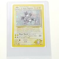 HOLO Lt Surges Magneton 8/132 - NM / M  - Rare Gym Heroes Pokemon Card