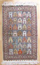 Perser Orientteppich IRAN GHOM Seide Handgeknüpft 127x78 cm Knoten Silk