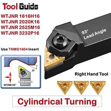 WTJNR 16mm 20mm 25mm 32mm Shank Indexable Turning Lathe Tool Holder Cylindrical
