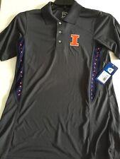 University of Illinois Golf Shirt Mens100% Polyester NWT ProEdge SS Small 34/36