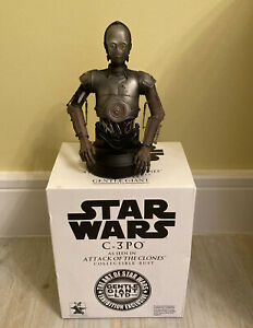 Star Wars C-3PO as seen in Attack Of The Clones Exclusive Gentle Giant Mini Bust