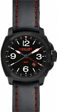 Lum-tec M59 GMT Black PVD Watch 24h Swiss Ronda Movement Max Darkness Visibility