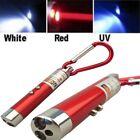 3 IN1 MULTIFUCTION MINI LASER TORCH LIGHT POINTER UV LED FLASHLIGHT KEYCHAIN