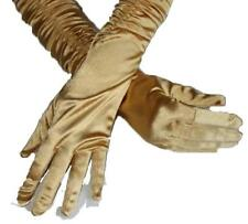Light Gold 3/4 Length Shirred Gloves by Shirley of Hollywood