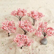 20Pcs Blossom Cherry Ho Oo Scale 65mm Model Trees Scenery Railroad Layout Scene