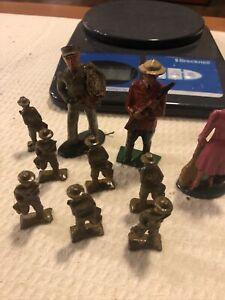 Vintage Cast Iron Figurine Lot